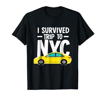 Amazon.com  I Survived Trip To NYC - Shirt New York City Taxi Cab ... 83afa33bad2