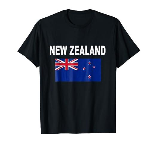 New Zealand Flag T-Shirt Cool Kiwi Zealander Flags Gift Tee