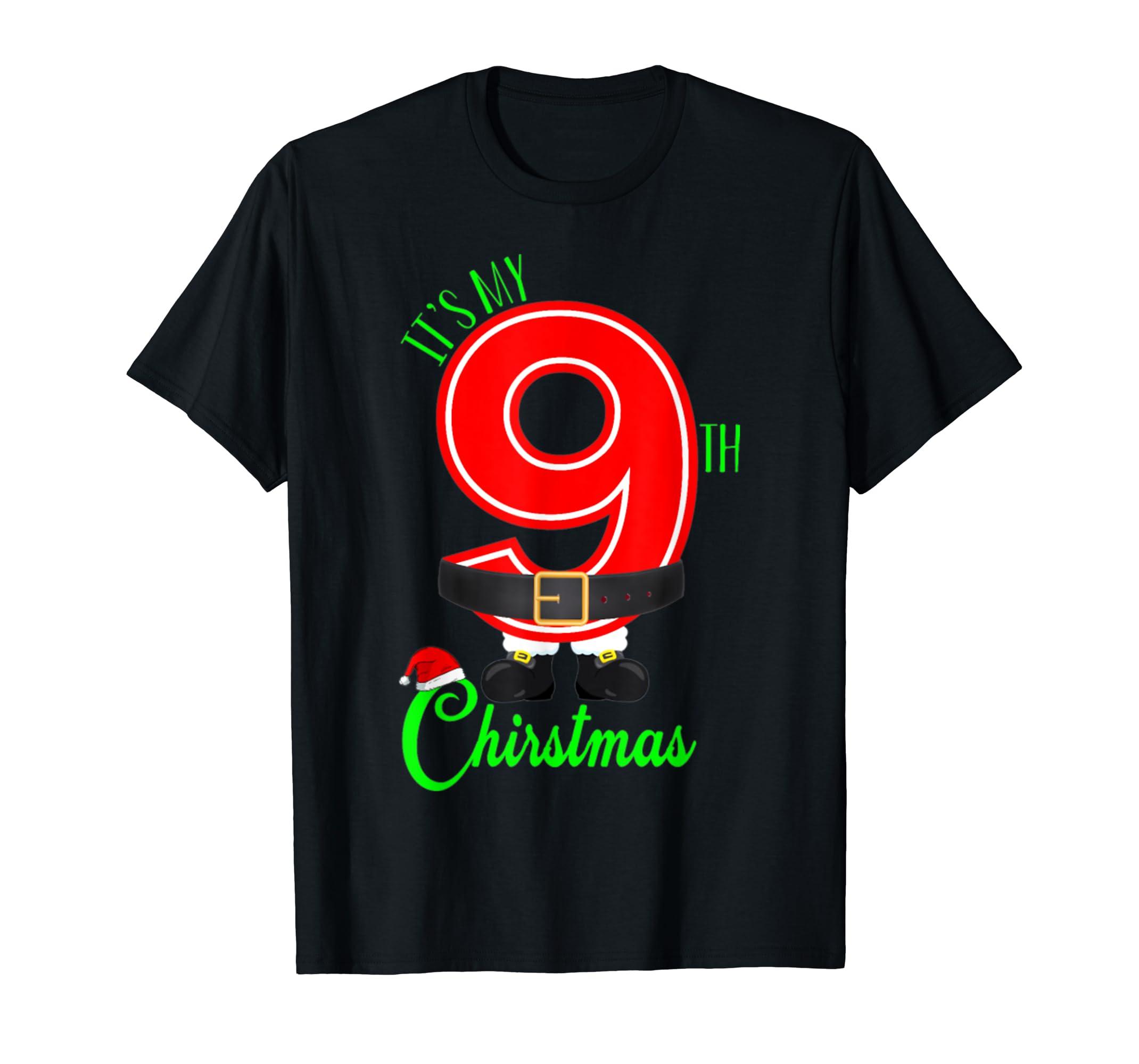9th Christmas Birthday Shirt Gift Christmas For Born 2010 T-Shirt-Men's T-Shirt-Black