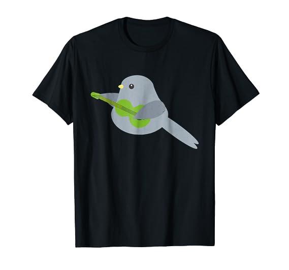 Cute Bird Playing Guitar graphic Tee Shirt