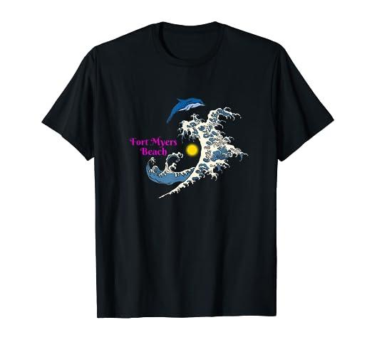 658d48d30 Amazon.com: Fort Myers Beach Florida Sun Sea Dolphin Beach T-Shirt ...