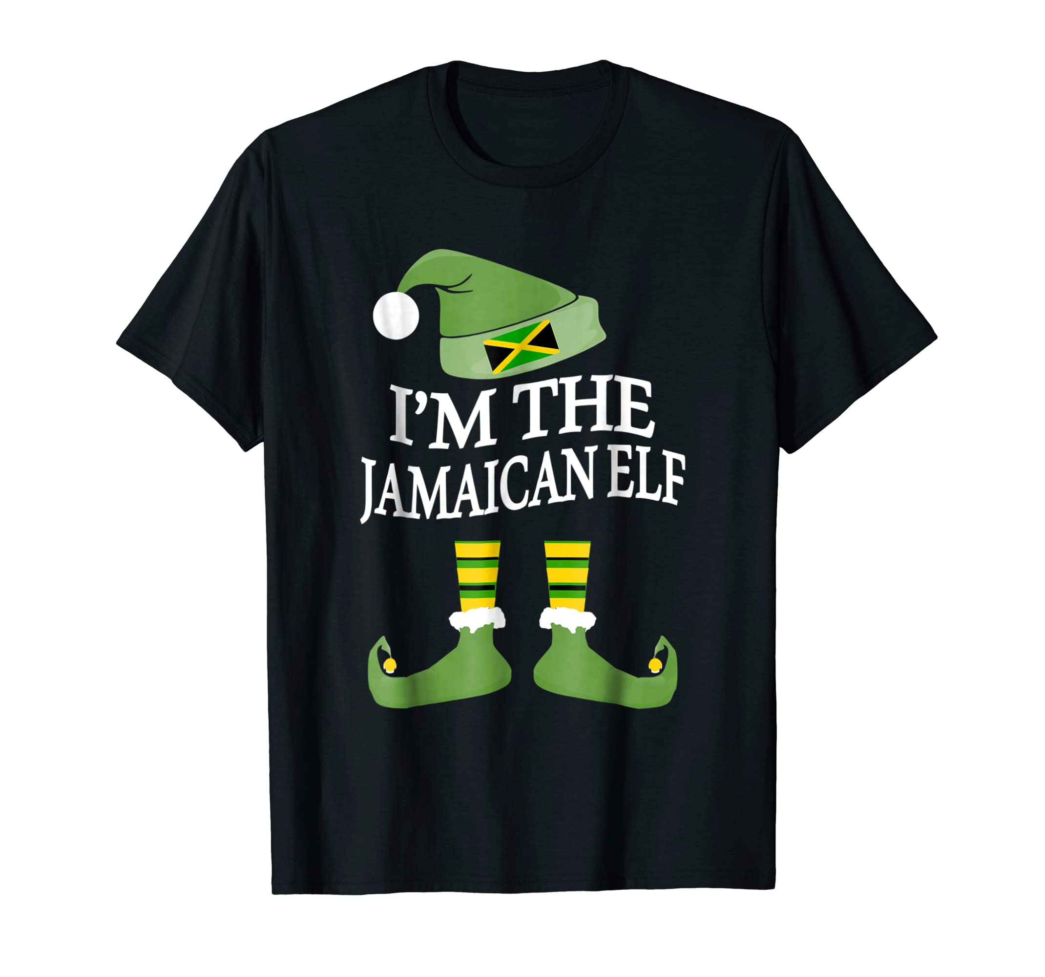 I'm The Jamaican Elf Matching Group Family Christmas T Shirt-azvn