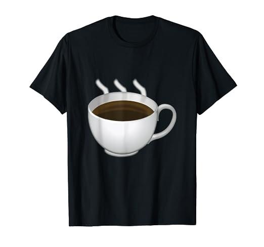 Amazon com: Coffee Emoji T Shirt: Clothing