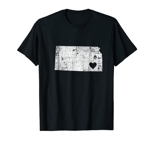 Amazon Com Kansas Retro Vintage Home State Map Outline T Shirt Gift