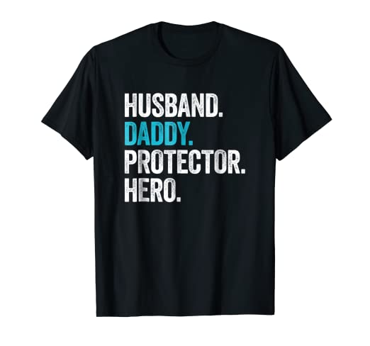 c4c589fdf Image Unavailable. Image not available for. Color: Mens Husband Daddy  Protector Hero Shirt Father's Day Gift