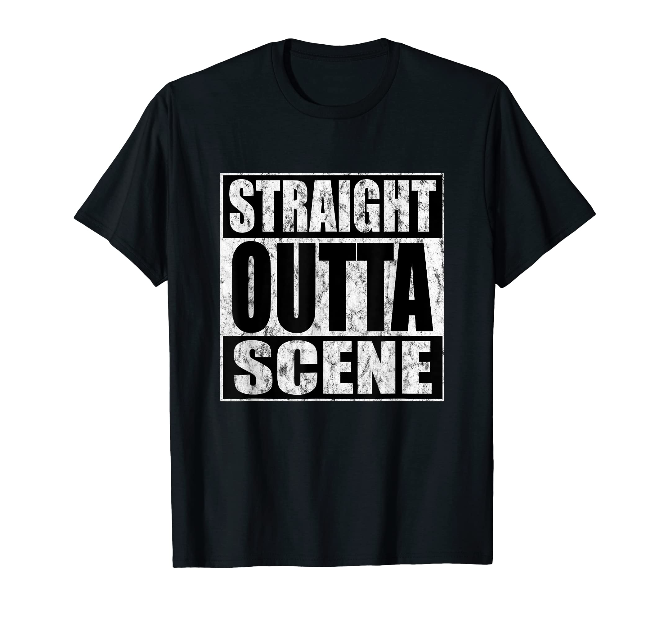 Amazon Com Straight Outta Scene Bdsm Kink Distressed T Shirt Clothing