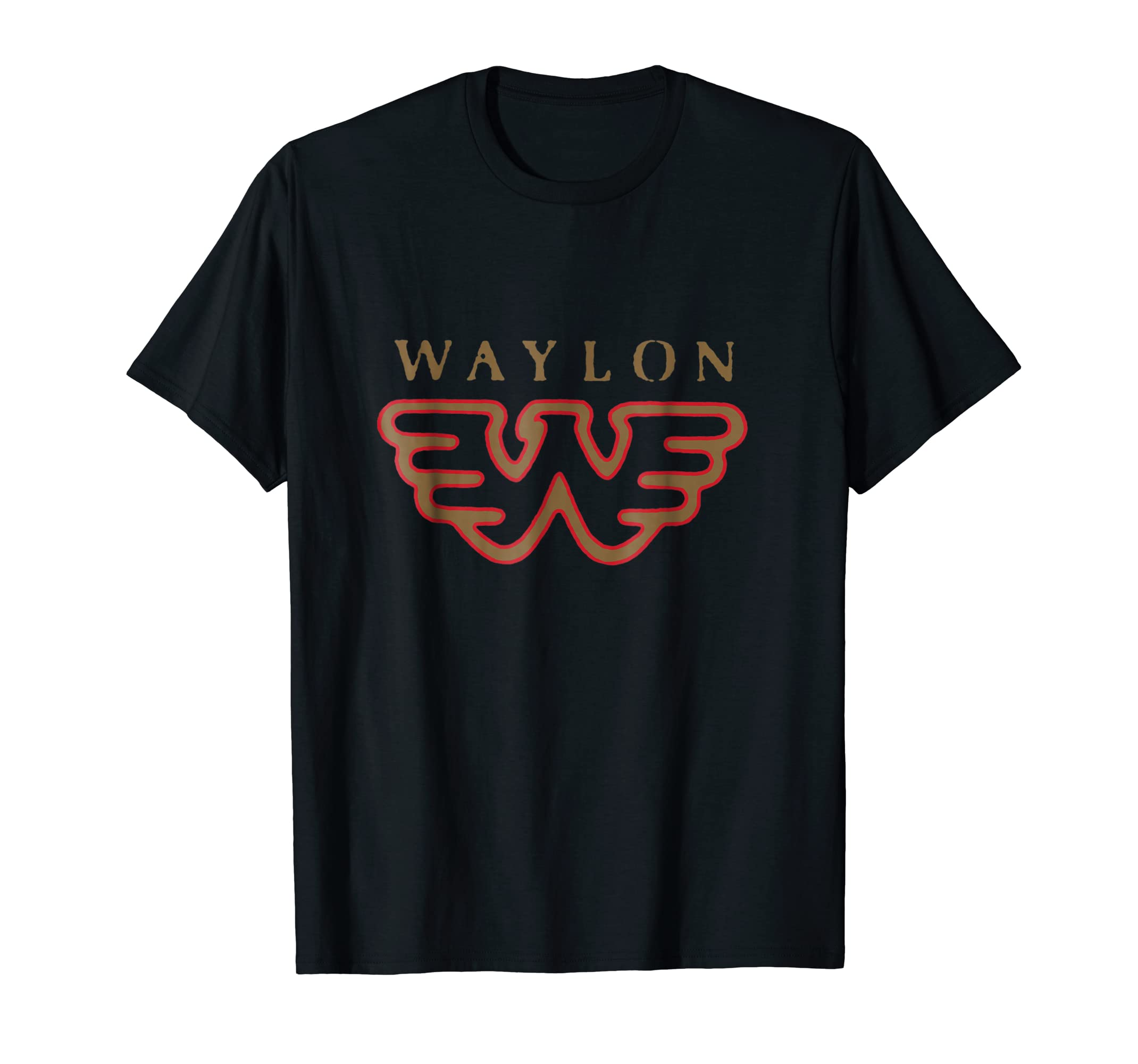 b6335d98 Amazon.com: Waylon Jennings Flying W Logo Shirt - Official Merch: Clothing