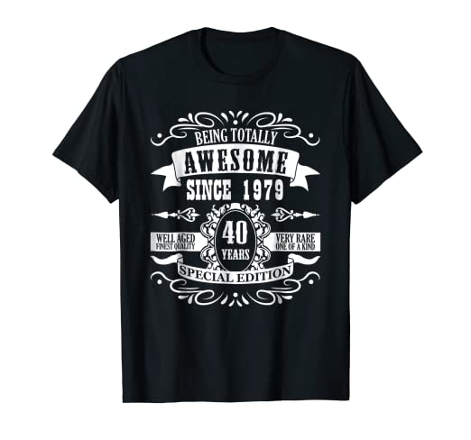 Amazon 40th Birthday Gift Shirt Totally Awesome Since 1979