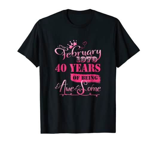 Amazon 40th Birthday Vintage Made In FEBRUARY 1979 T Shirt