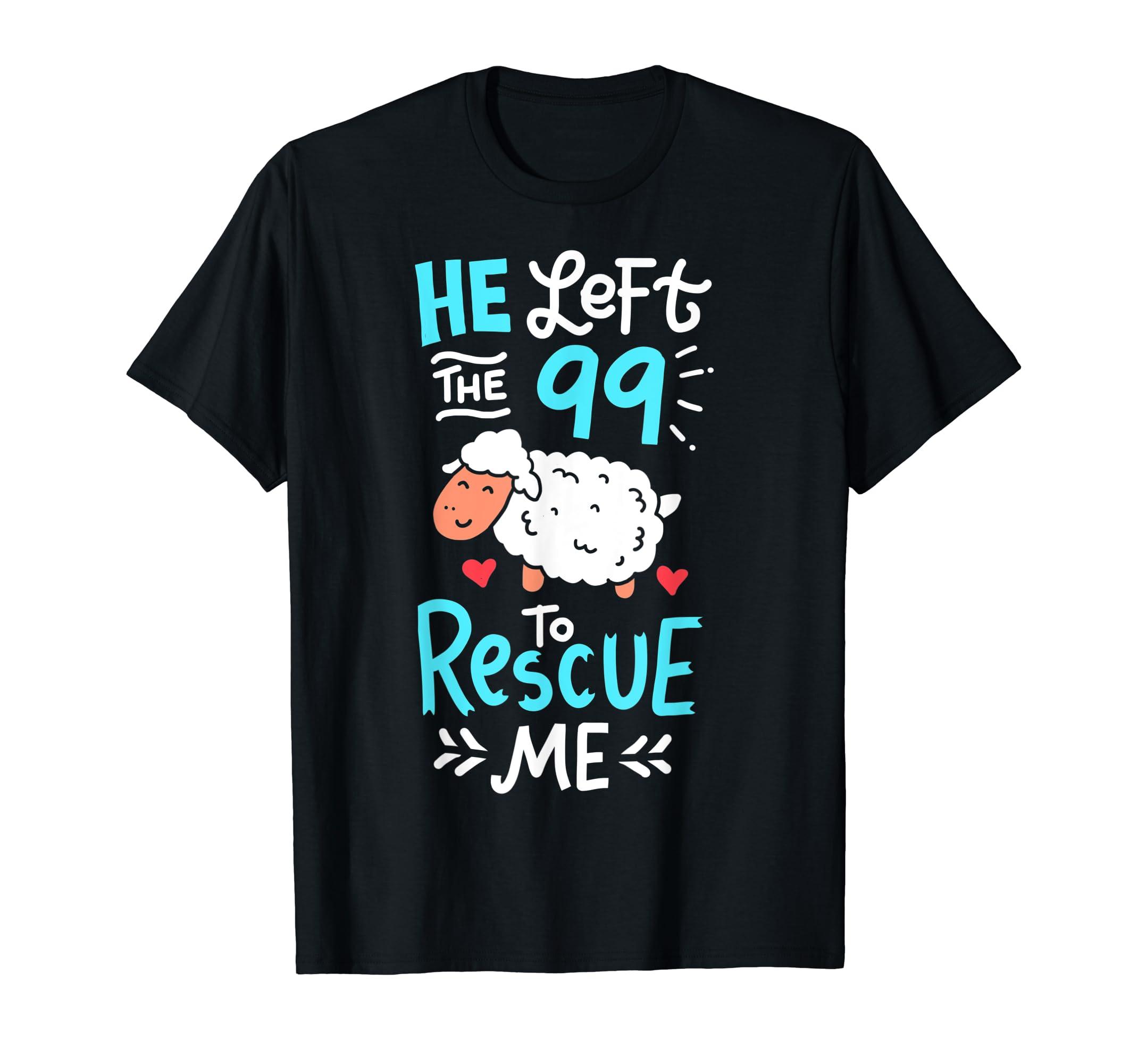 Christians T-Shirt Religious Bible Quotes Tshirt Sheep Shirt-Men's T-Shirt-Black