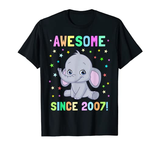 Image Unavailable Not Available For Color Kids Elephant Birthday Shirt 12 Year Old