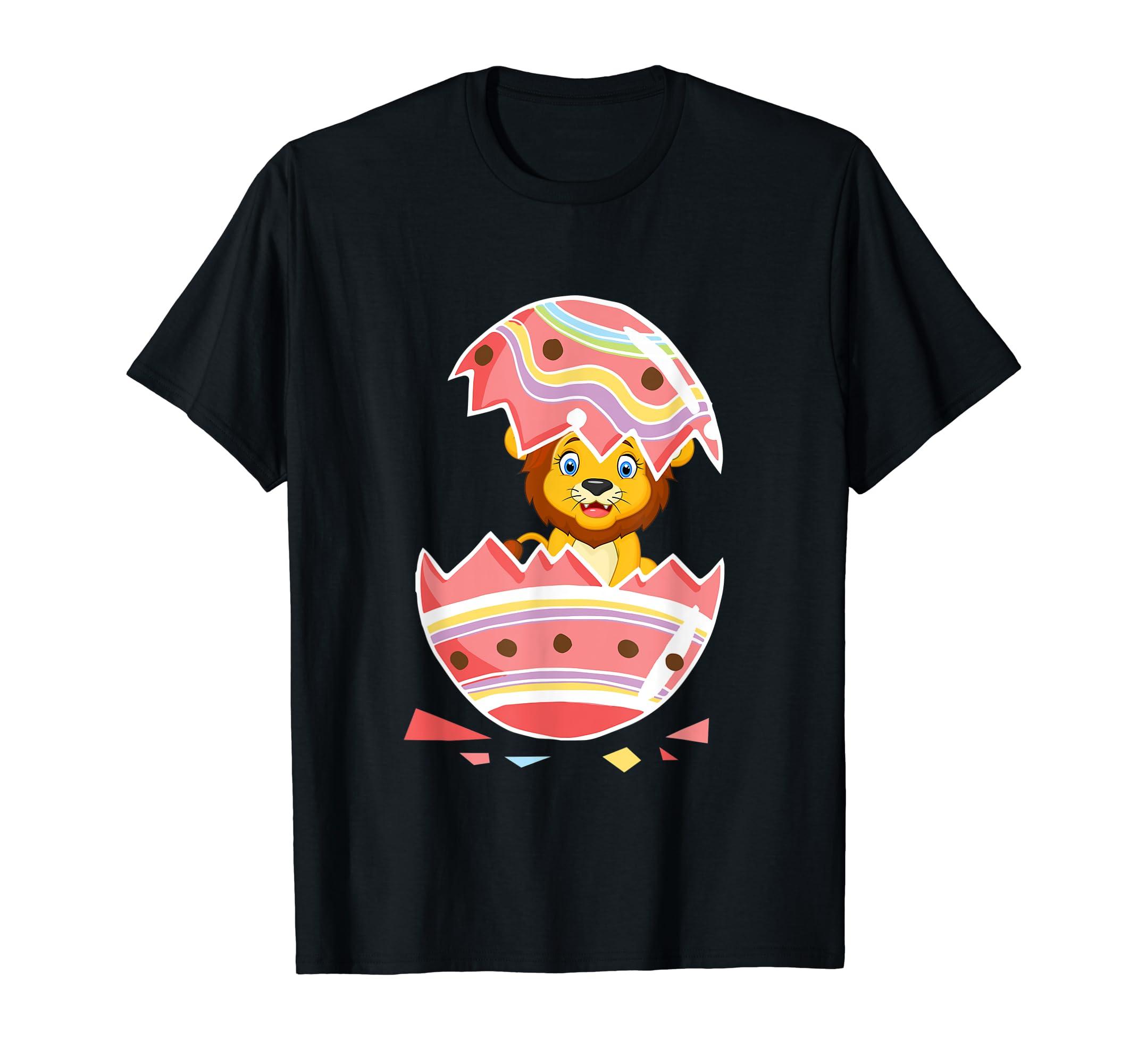 Lion Easter 2019 T Shirt Easter Lion in Egg Shirt-ANZ