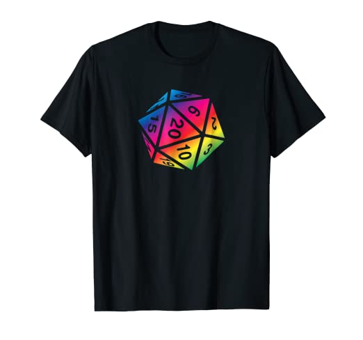 79889671e Image Unavailable. Image not available for. Color: RPG Dice Shirt d20 ...