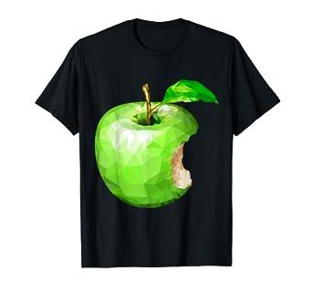 9e695e6a4 Amazon.com: Green Apple Geometric Design Unisex T-Shirt: Clothing