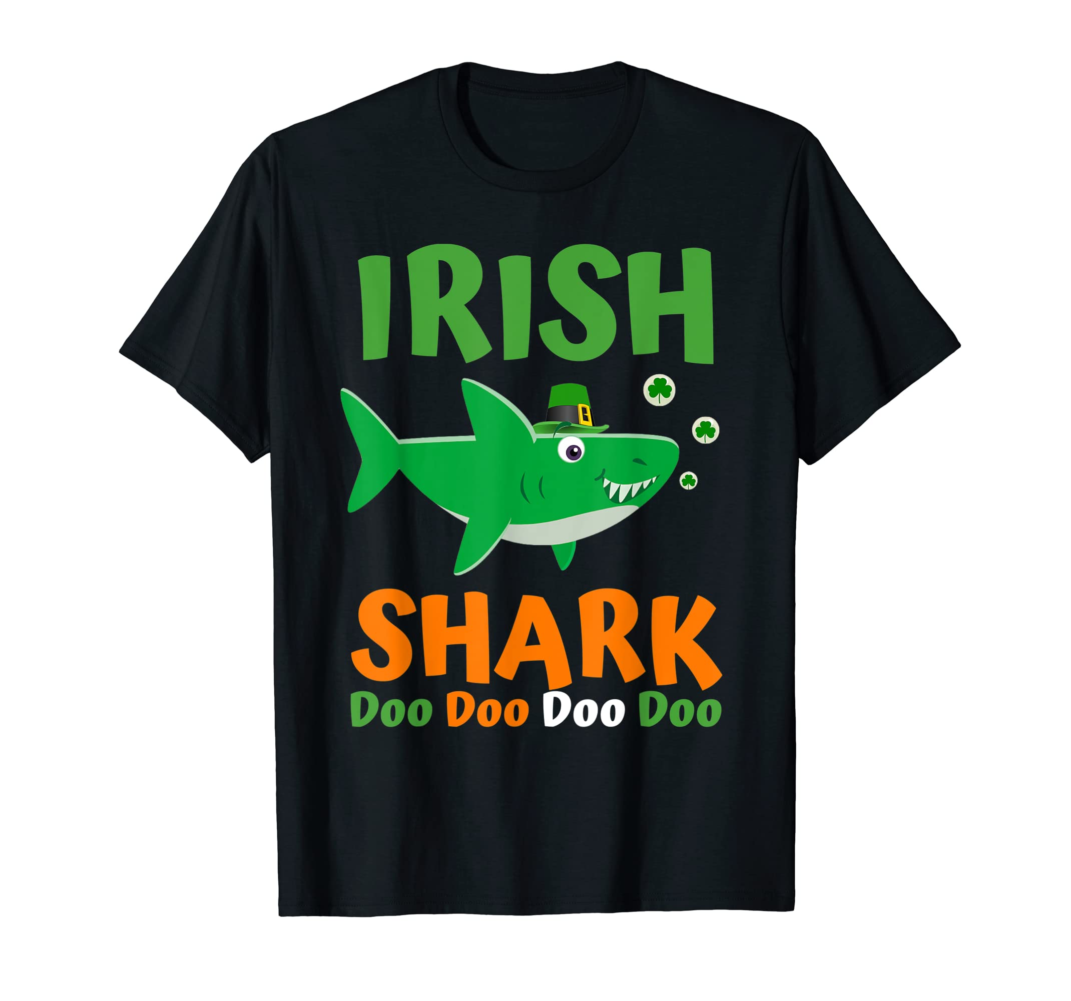 St Patricks Day Shirt Kids Toddler Women Men Irish Shark Tee-ANZ
