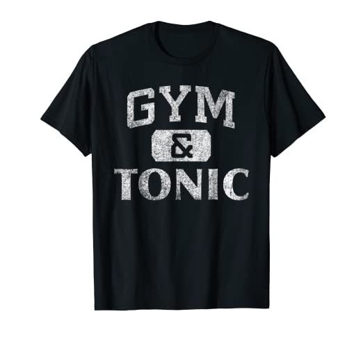 866d8a880 Image Unavailable. Image not available for. Color: Gym & Tonic Drinking  Workout Pun Athletic Graphic T-Shirt