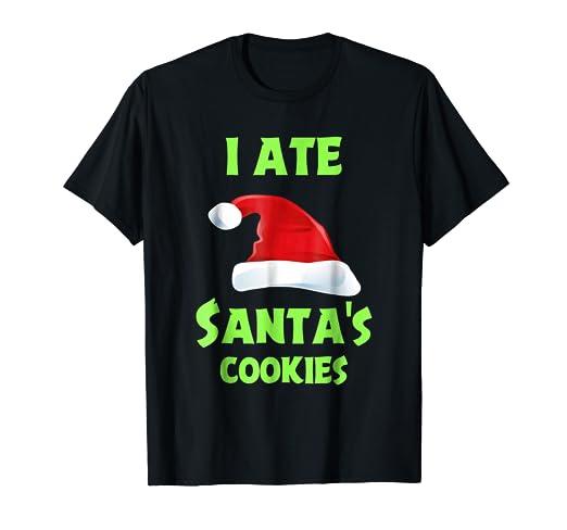 Amazon.com Funny Christmas Shirts Kids I Ate Santa\u0027s