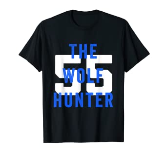 hot sales 51ec7 e261b Amazon.com: wolf hunter Vander esch Cowboys t-shirt: Clothing