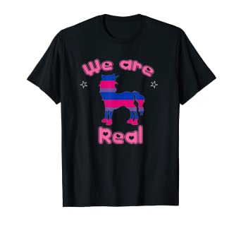 b13155c6191 Image Unavailable. Image not available for. Color: Bisexual Pride - Bisexuality  Unicorn and Bisexual Tshirt