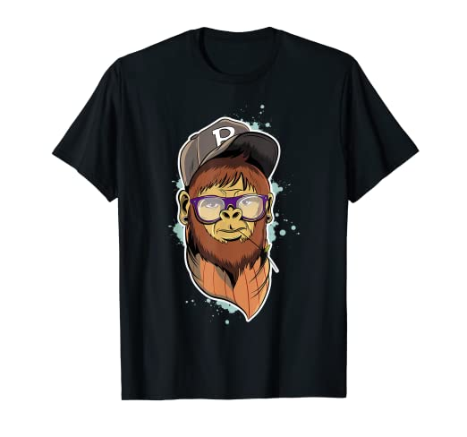 9306833978fe66 Image Unavailable. Image not available for. Color: Hipster Monkey T-Shirt  ...