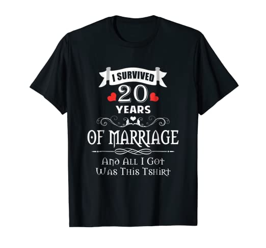 amazon com 20th anniversary shirts 20 years wedding marriage gifts