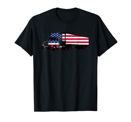 7898340ebb40 Image Unavailable. Image not available for. Color  American Flag Automobile  Drivers T-shirt 4th ...