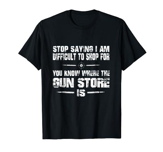 Amazon com: Funny Gun Store T-Shirt Gift Idea for Gun Owner Club