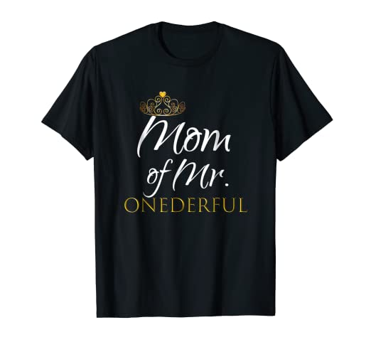 Amazon Womens Mom Of Mr Onederful Birthday Shirt Party Outfit