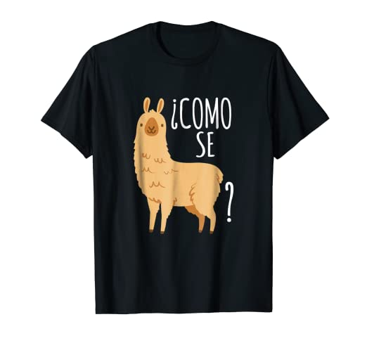7c46b5ce Image Unavailable. Image not available for. Color: Como Se Llama T Shirt