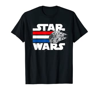 8ac1d1c62f Amazon.com: Star Wars Falcon Stripes Red White & Blue July 4th T ...