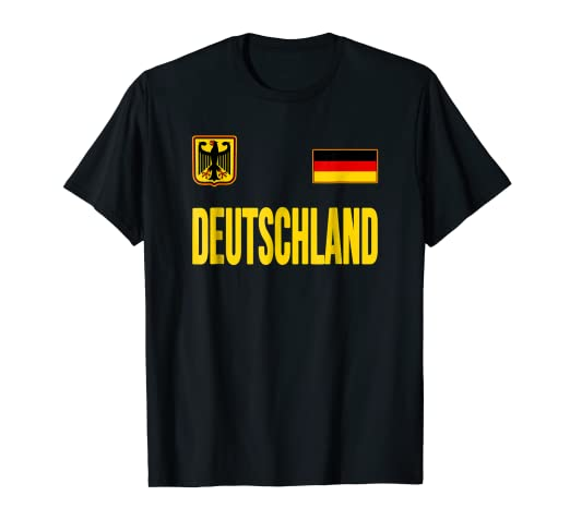 5da84ea8e Image Unavailable. Image not available for. Color  Germany T-shirt German  Flag Soccer Football Fan Jersey