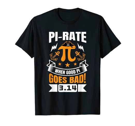 23d55383 Image Unavailable. Image not available for. Color: Funny Pi Day T-Shirt  Pirate Love Geek Nerd Math ...