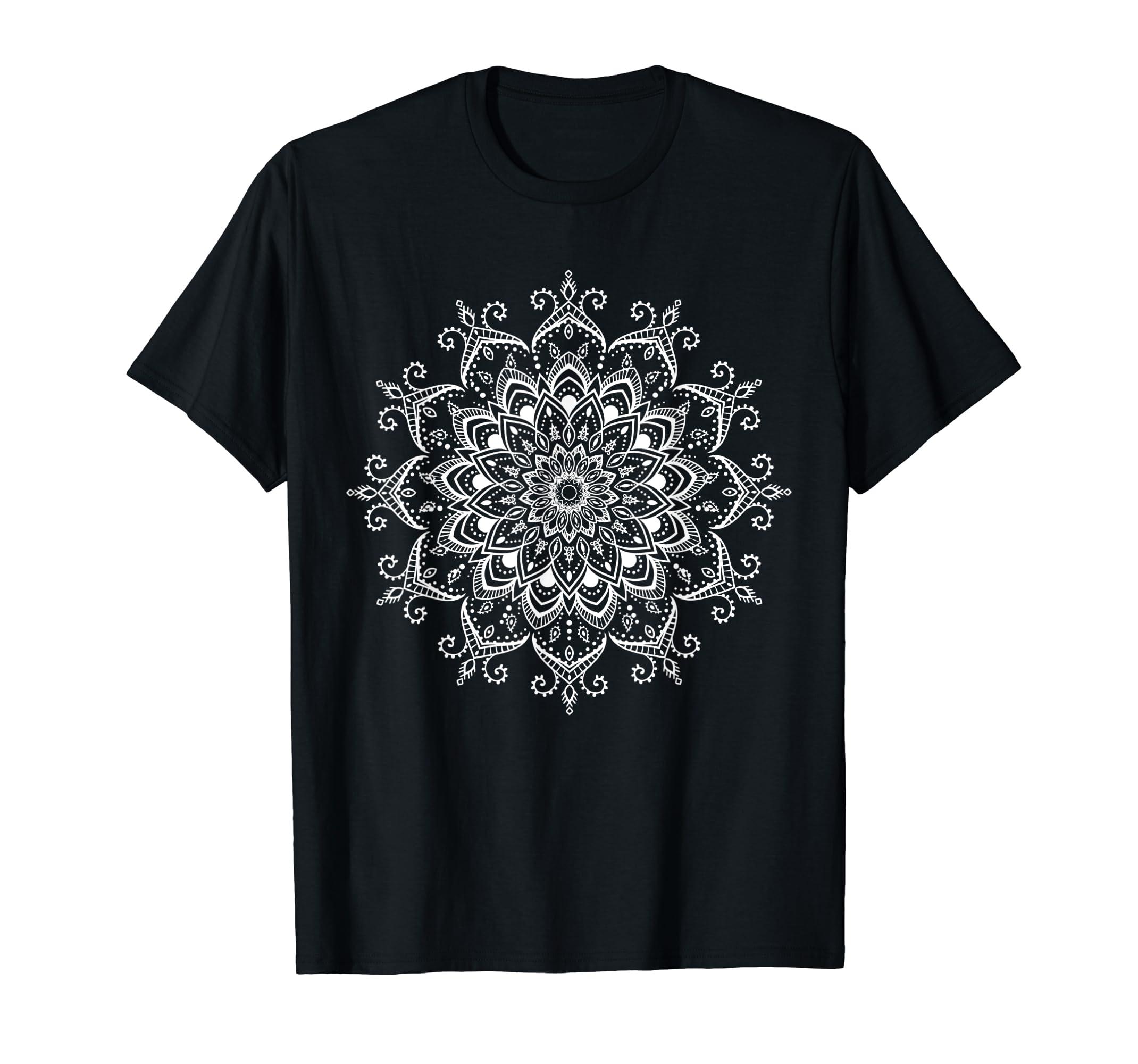 edfd42769934 Amazon.com  Yoga gift t shirt- sacred geometry Mandala tee for women   Clothing