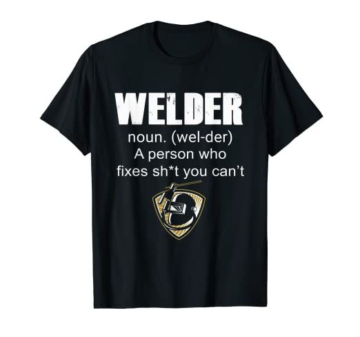 0c092c23 Image Unavailable. Image not available for. Color: Welder noun T shirt - Funny  Welder Welding ...