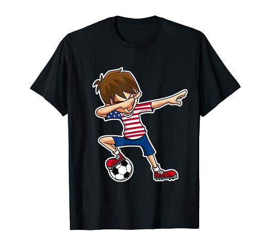 760534977 Amazon.com: Dabbing Soccer Boy USA Shirt, United States Jersey ...