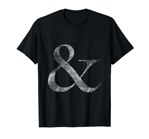 fb3575ab073 Amazon.com  Big Caslon Medium Letterpress Style Ampersand t-shirt ...