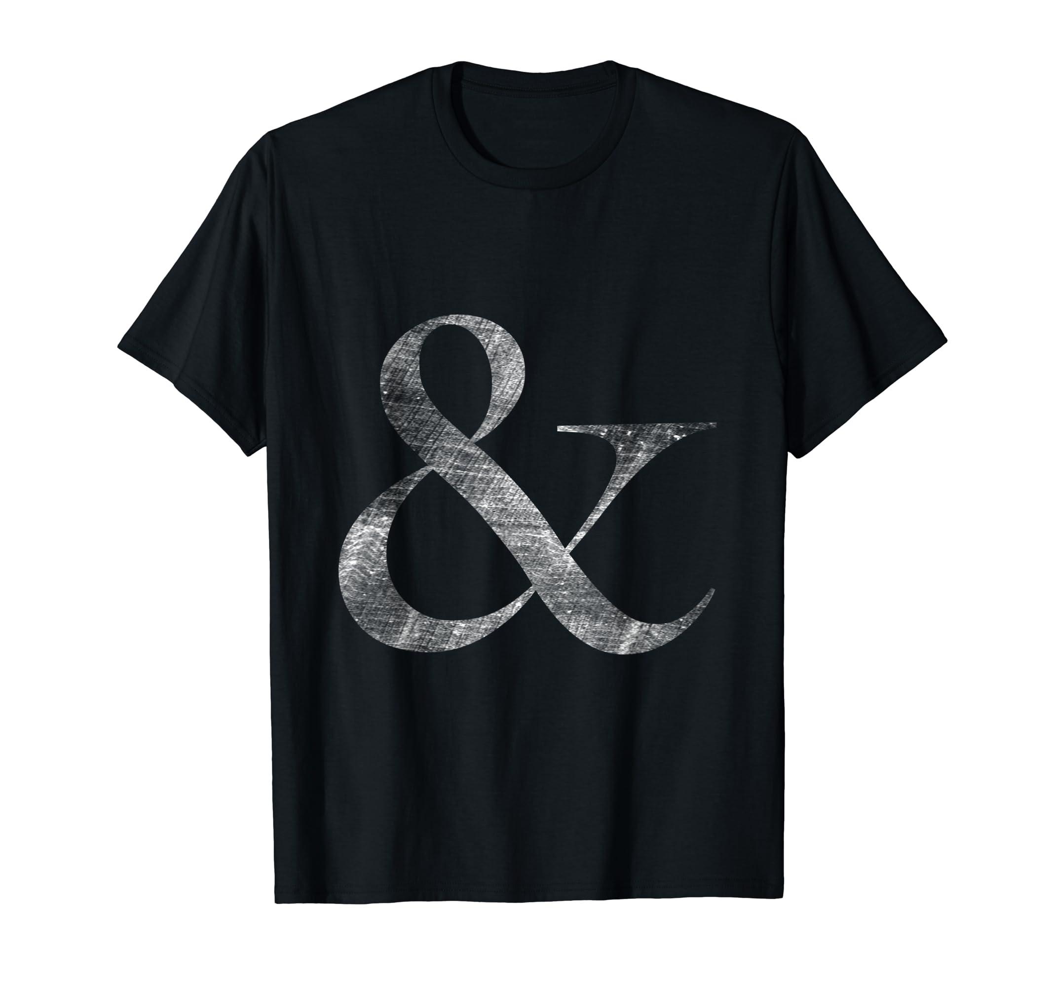f990dfc6d1c Amazon.com  Big Caslon Medium Letterpress Style Ampersand t-shirt  Clothing
