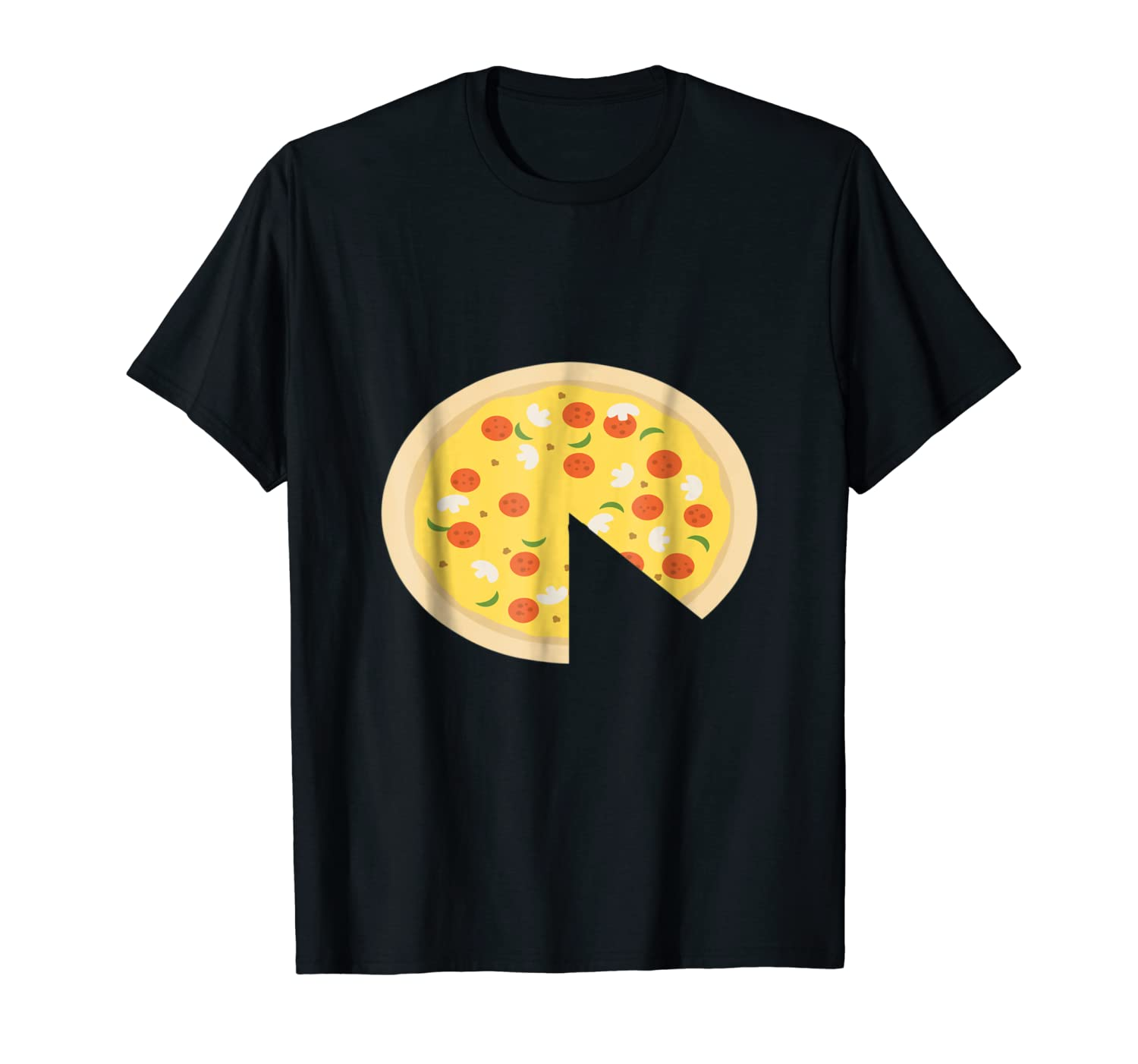 c954f1b84 Amazon.com: Mens Pizza Piece Slice Missing Father Son Funny Cute T-Shirt:  Clothing