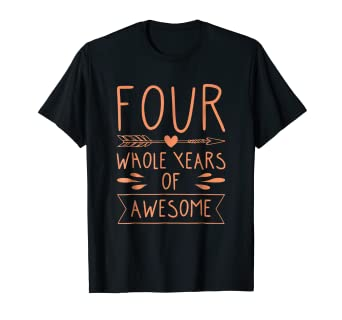 Amazon 4th Birthday Shirt For Toddler Boys And Girls Happy
