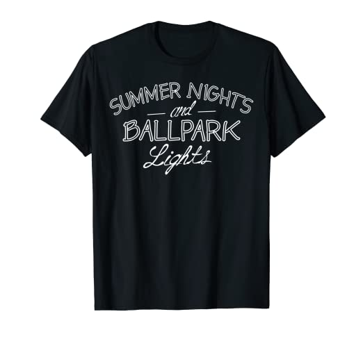 69f0014a Image Unavailable. Image not available for. Color: Summer Nights And Ballpark  Lights T-Shirt Cute Baseball Mom