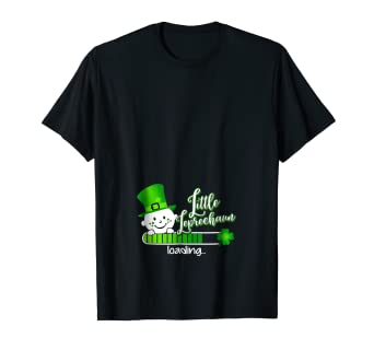 573ba50805d9d Image Unavailable. Image not available for. Color: Womens Pregnancy Little  Leprechaun loading Baby T Shirt Gift