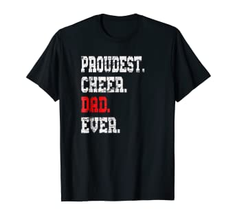 86938781 Image Unavailable. Image not available for. Color: Custom Cheer Dad TShirt,  Best Dad Ever Gift