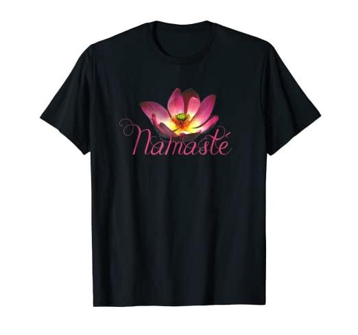 594db40dc0 Image Unavailable. Image not available for. Color: Namaste Lotus Flower Yoga  T-Shirt