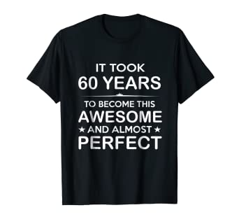 Amazon Sixty 60 Year Old 60th Birthday Gift Ideas Her Him