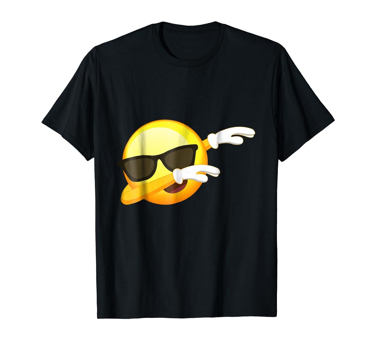 Funny Dabbing Emoji Shirt - Cool Emoji Dab T-Shirt-Men's T-Shirt-Black