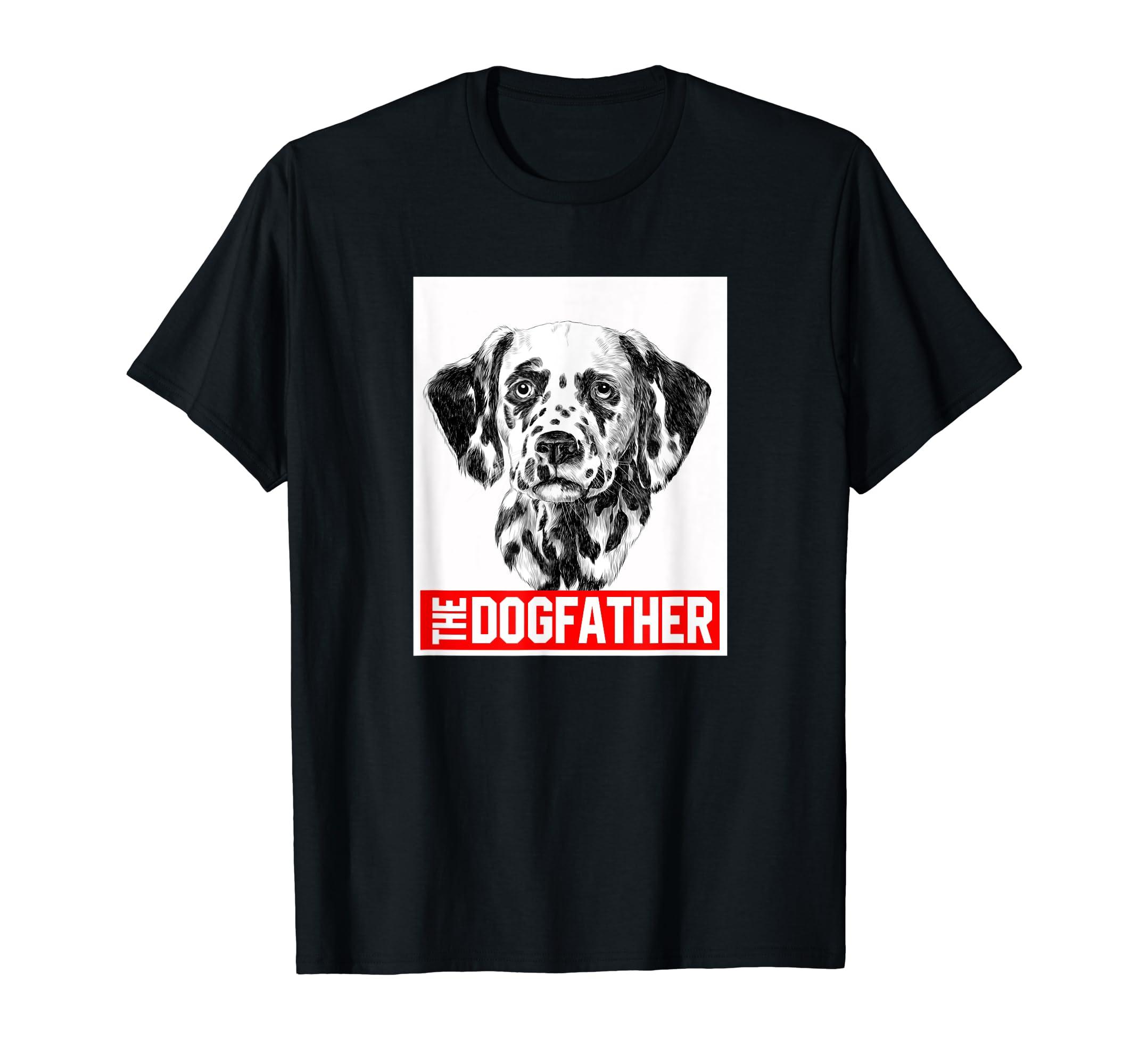 Dalmatian - TheDogFather T-Shirt-Men's T-Shirt-Black