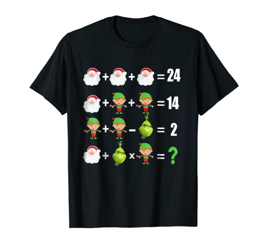 364c3931 Image Unavailable. Image not available for. Color: Santa Elf Reindeer Test  IQ Merry Christmas T-Shirt