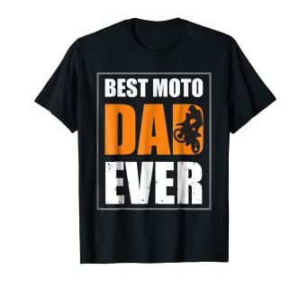9d1f2c22c6c74d Image Unavailable. Image not available for. Color: Mens Best Moto Dad Ever  T Shirt ...