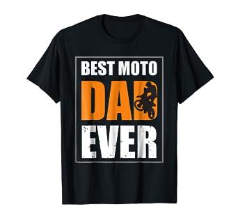 3d213c99e Image Unavailable. Image not available for. Color: Mens Best Moto Dad Ever  T Shirt - Vintage Motocross Shirt