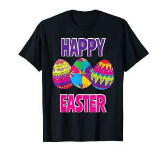 2d7316720 Amazon.com: Happy Easter Shirt For Boys Girls Women Men Colorful ...